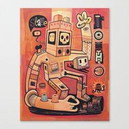 Esclaves des robots... nous serons   Canvas Print