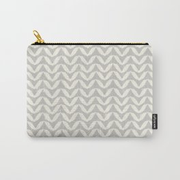 Herringbone-Gray Carry-All Pouch