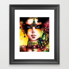 THE BLACK MASK Framed Art Print