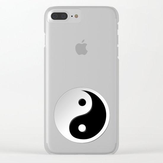 Yin Yang Symbol Clear iPhone Case