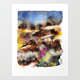 Abstract Tuscan Landscape Art Print