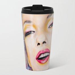 Graffiti tribute to Marilyn original painting Travel Mug