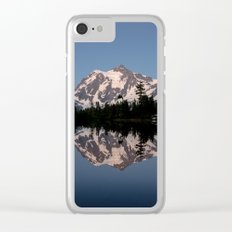 Mt. Shuksan - Blue Hour Reflection Clear iPhone Case