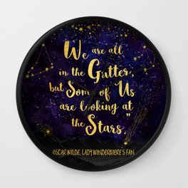 Wilde - Looking At The Stars Wall Clock