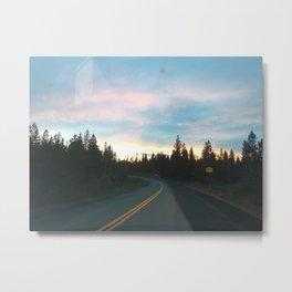 Evening Drive Metal Print