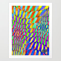 Tumbler #32 Psychedelic Optical Illusion Design by CAP Art Print