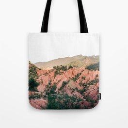 Orange mountains of Ourika Morocco | Atlas Mountains near Marrakech Tote Bag