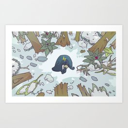 harrowed lost and bound Art Print
