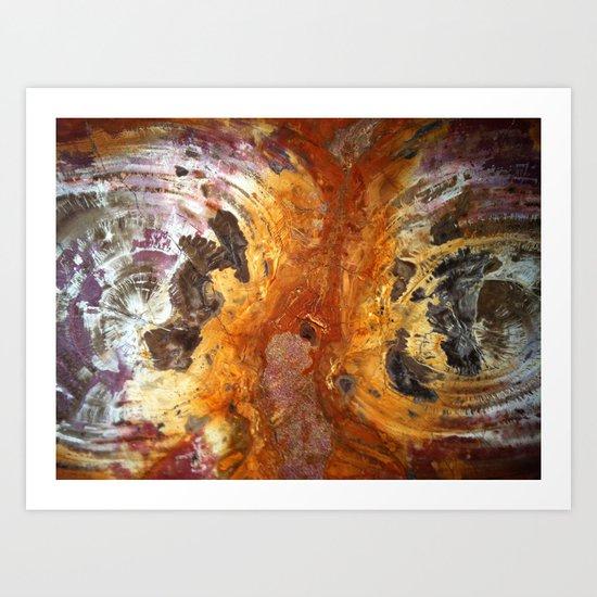 Red Cyclones Art Print
