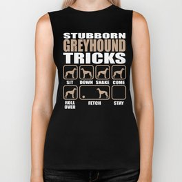 Stubborn Greyhound Tricks design Biker Tank