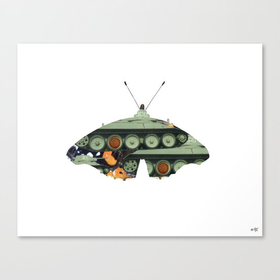 Butterfly Bomber Canvas Print