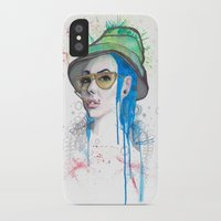 fear and loathing iPhone & iPod Cases featuring Fear and Loathing by Becca Douglas