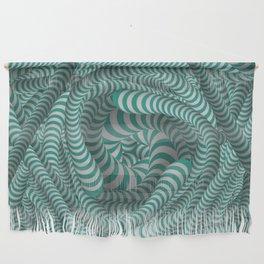 Mint green stripe illusion design Wall Hanging