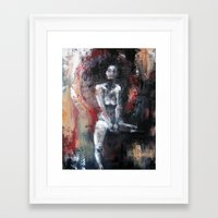 daryl Framed Art Prints featuring Daryl by Andrea Creates