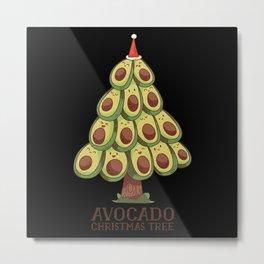 Avocado Christmas Tree Metal Print