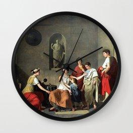 Joseph-Benoît Suvee - Cornelia, mother of the Gracchin Wall Clock