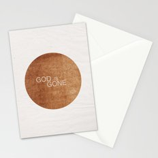 God is gone Stationery Cards