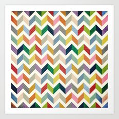 Vintage Chevron - Color Love Art Print