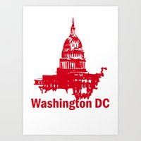 washington dc Art Prints featuring Washington DC  by ialbert
