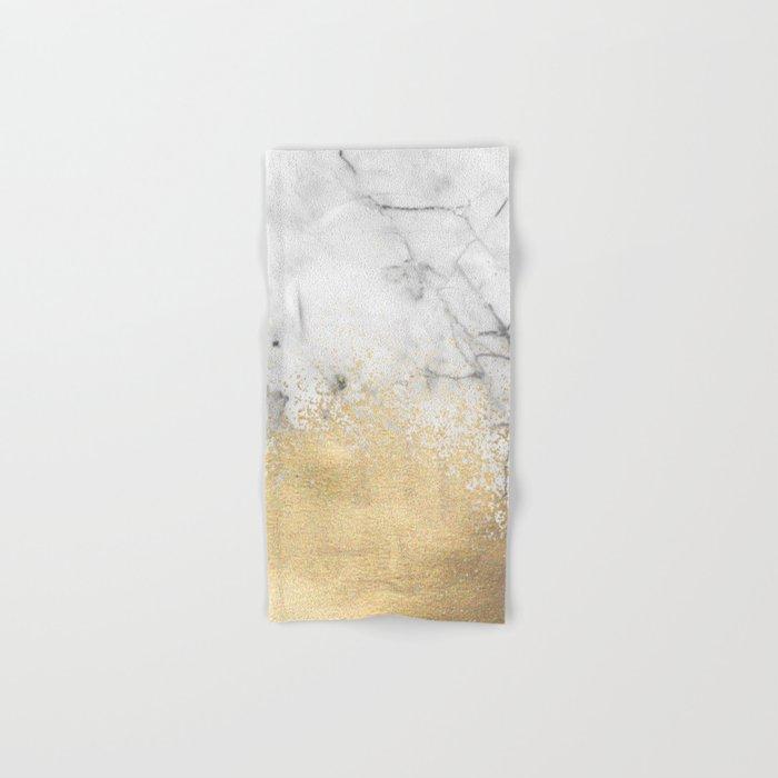 Gold Dust on Marble Hand & Bath Towel