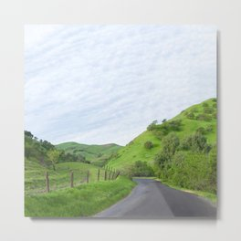 Northern California country road Metal Print