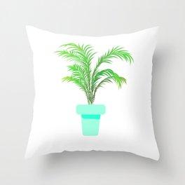 Palm Plant Throw Pillow