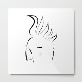 Cutie Cockatoo Metal Print