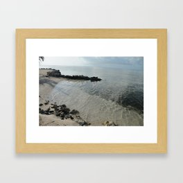 Your own private beach...  Framed Art Print