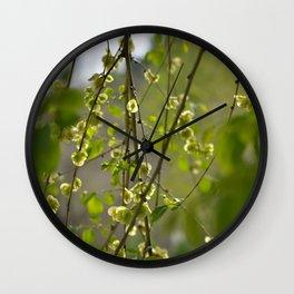 Having a Green Moment Wall Clock