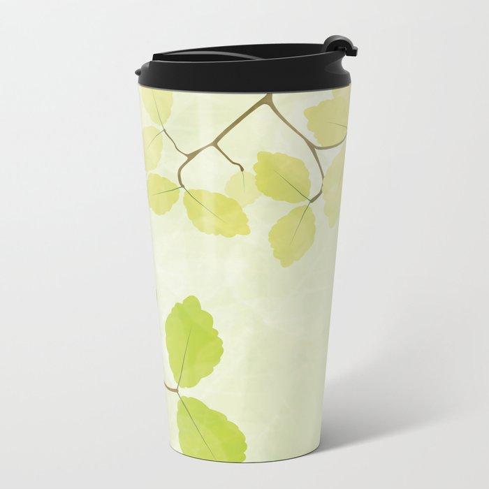 Spring Leaves Metal Travel Mug