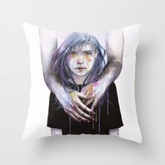 tiny creature Throw Pillow