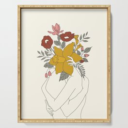 Colorful Blossom Hug Serving Tray