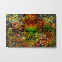 Scatterings (autumn, abstract, leaves) Metal Print