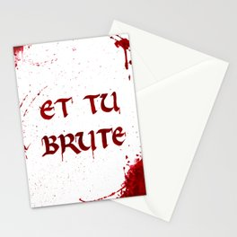 Bloody Last Words Stationery Cards
