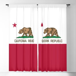 California Republic Flag - Bear Flag Blackout Curtain