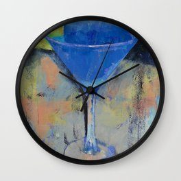 Royal Blue Martini Wall Clock