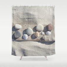 Azul Agave Plant Shower Curtain Beach Pebble Driftwood Still Life Shower  Curtain ...