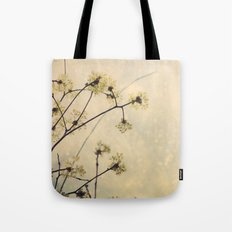Spring Branches in White Botanical Tote Bag