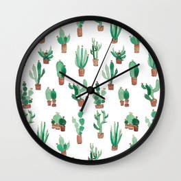 little cactus Wall Clock