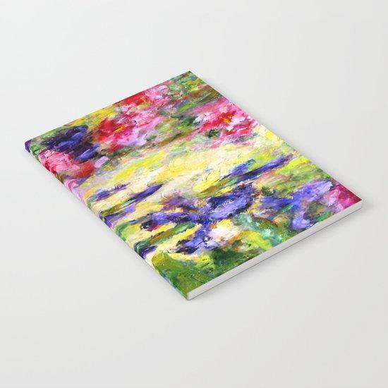 Purple Iris Garden Notebook