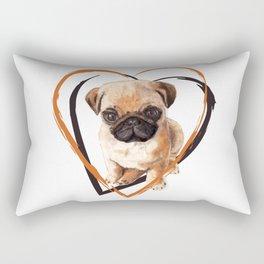 Cute Pug puppy Rectangular Pillow