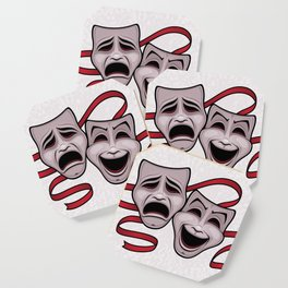 Comedy And Tragedy Theater Masks Coaster