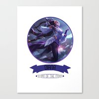 league of legends Canvas Prints featuring League Of Legends - Diana by TheDrawingDuo