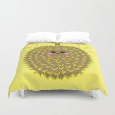 Happy Pixel Durian Duvet Cover