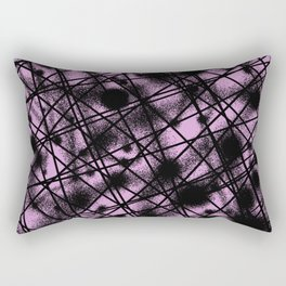 Web Of Lies - Black and pink conceptual, abstract, minimalistic artwork Rectangular Pillow