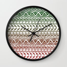 Holiday Henna Pattern Wall Clock