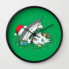 The Santa Shark Wall Clock