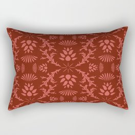 Thistles on Red Rectangular Pillow