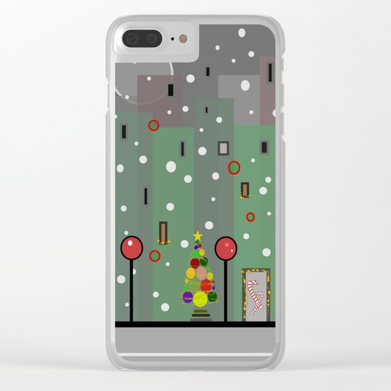 City Christmas Clear iPhone Case