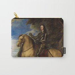 """Sir Anthony van Dyck """"Equestrian Portrait of Charles I"""" Carry-All Pouch"""